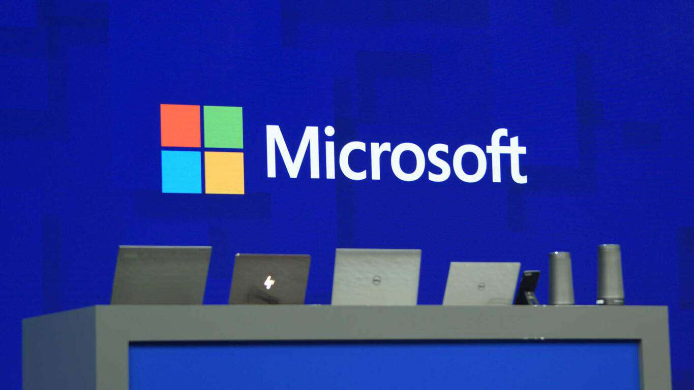 Microsoft hardware onstage at Build