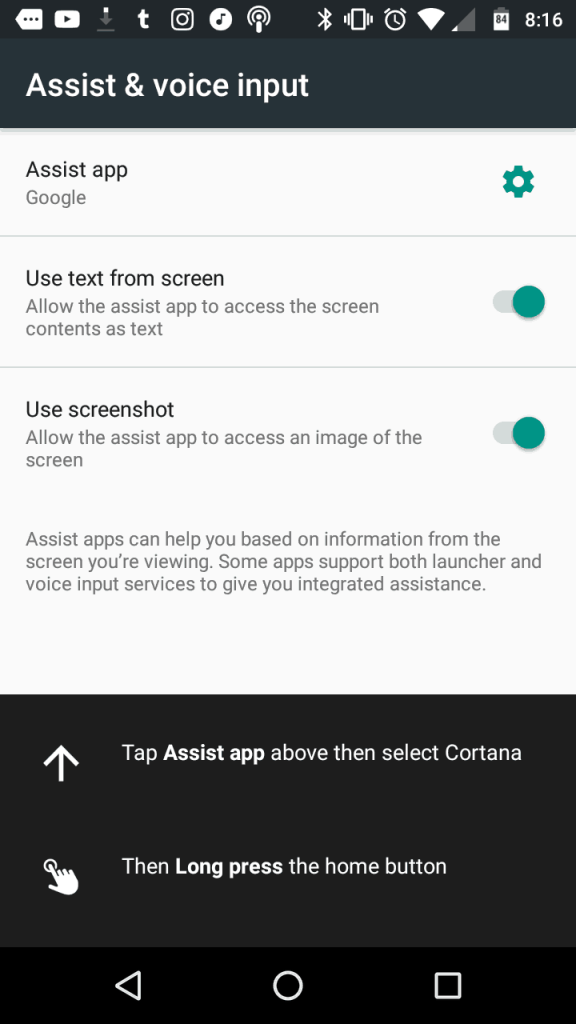 Android welcomes cortana as a default assistant - onmsft. Com - june 19, 2017