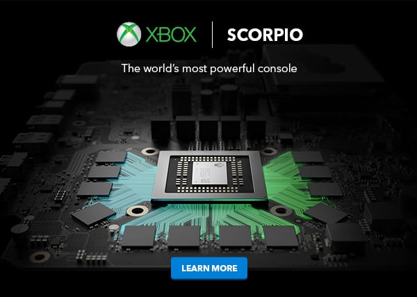 """""""xbox scorpio"""" could be the official name of project scorpio, according to a best buy advertisement - onmsft. Com - june 11, 2017"""