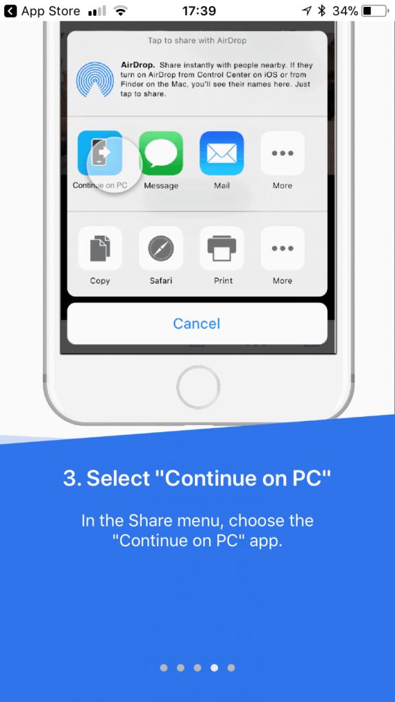 "Windows 10's ""continue on pc"" app arrives on ios - onmsft. Com - july 29, 2017"
