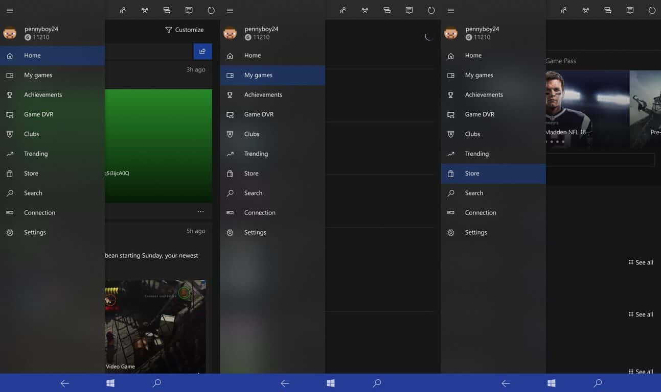 A touch of fluent design comes to the xbox app on windows 10 mobile and desktop - onmsft. Com - july 14, 2017