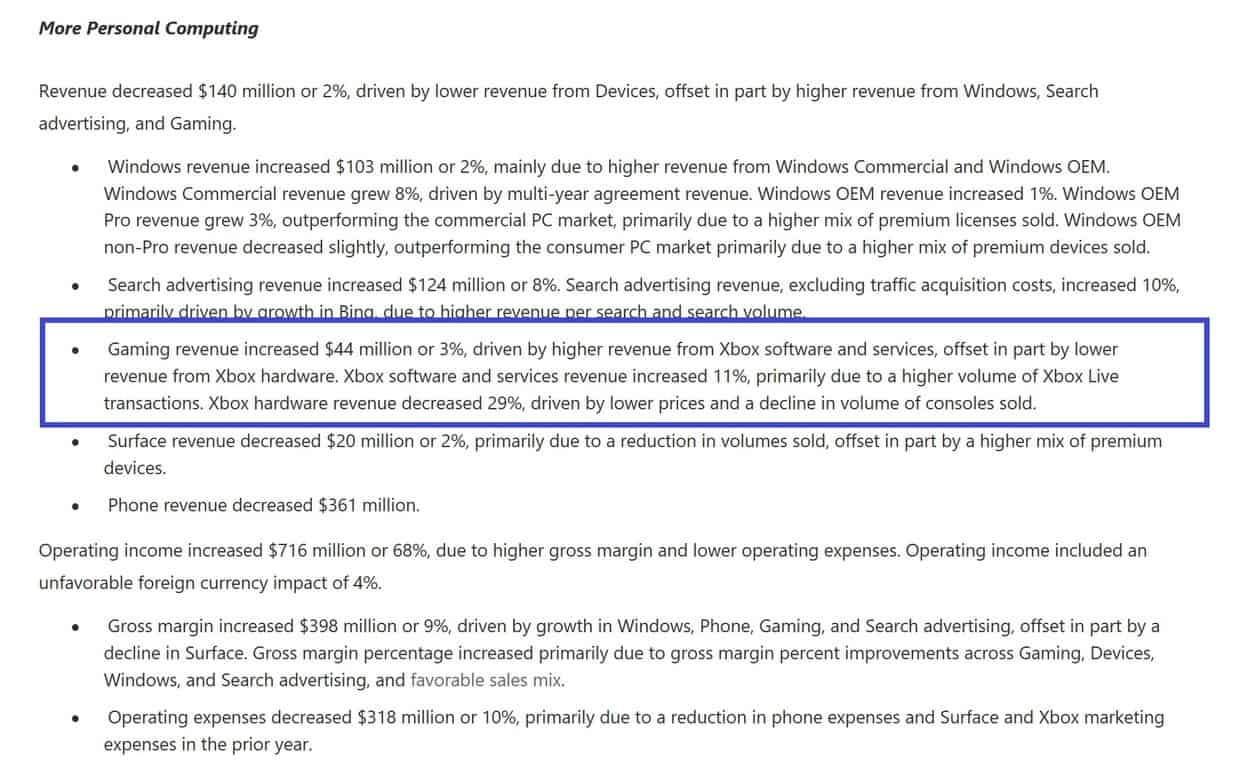Xbox revenue growing slow and steady for microsoft in q4 17' earnings - onmsft. Com - july 20, 2017