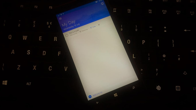 Microsoft To-Do on Lumia 930