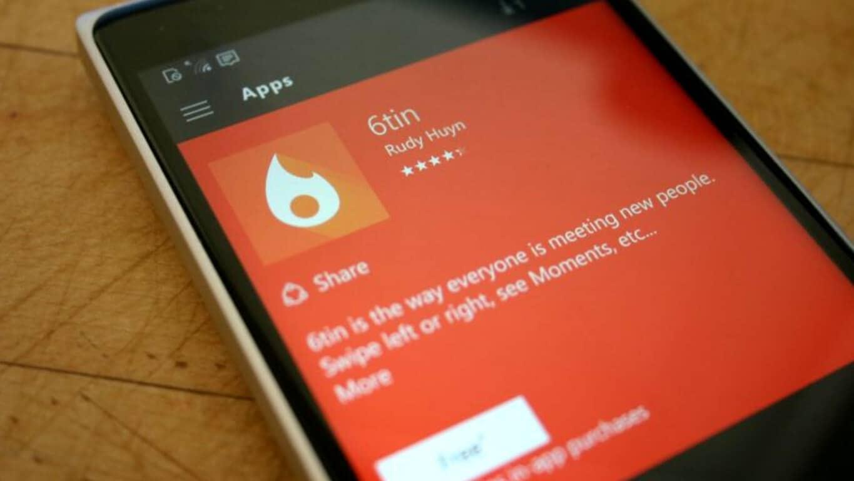 6tin app on Windows Phone