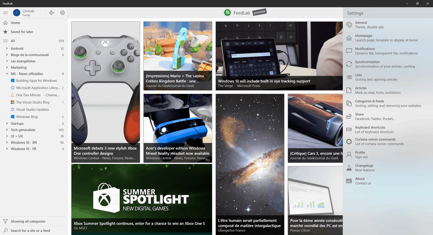 Windows 10 Feedly client FeedLab approaches new major release, try it now OnMSFT.com August 4, 2017