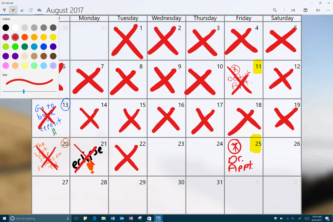 Keep track of your life the old fashioned way with Ink Calendar for Windows 10 OnMSFT.com August 23, 2017