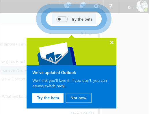 Microsoft begins beta testing a new, faster Outlook.com OnMSFT.com August 8, 2017