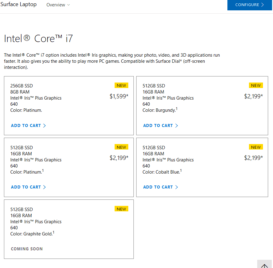 You can now order the Core i7 Surface Laptop in Cobalt Blue and Burgundy OnMSFT.com August 15, 2017