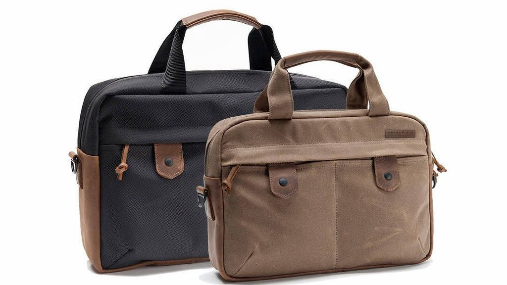 Bolt briefcase from waterfield designs is a stylish bag to carry your surface pro (or any other laptop) - onmsft. Com - august 12, 2017