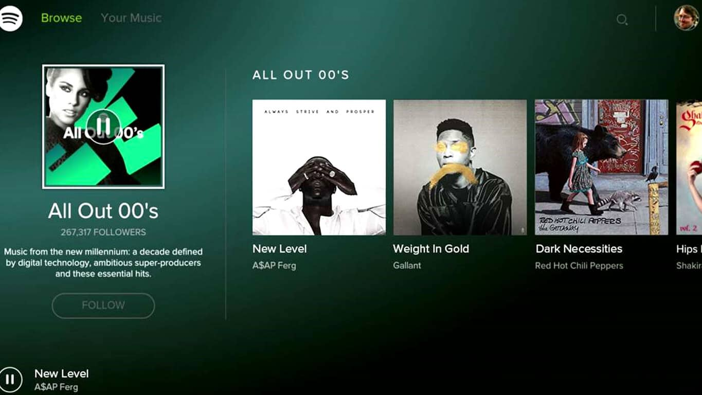 Spotify for Xbox app on Xbox One