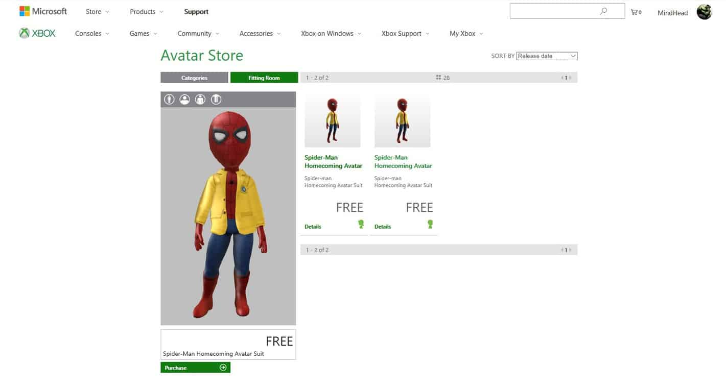 Free Spider-man Homecoming items now available for your Xbox Avatar OnMSFT.com September 27, 2017