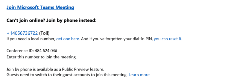 Microsoft Teams previews Dial In Conferencing OnMSFT.com September 21, 2017