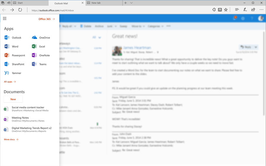 Office.com redesigned to make getting to Office 365 faster and easier OnMSFT.com September 22, 2017