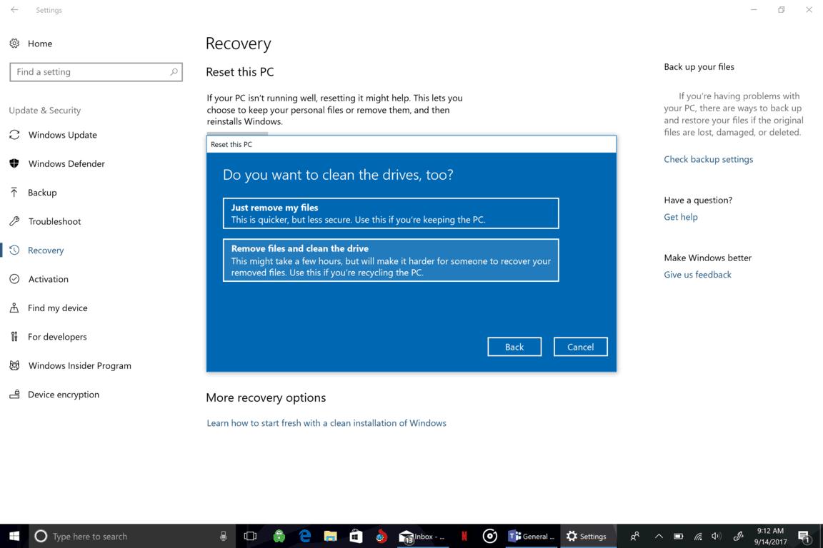 Microsoft, Windows 10, Clean, Erase