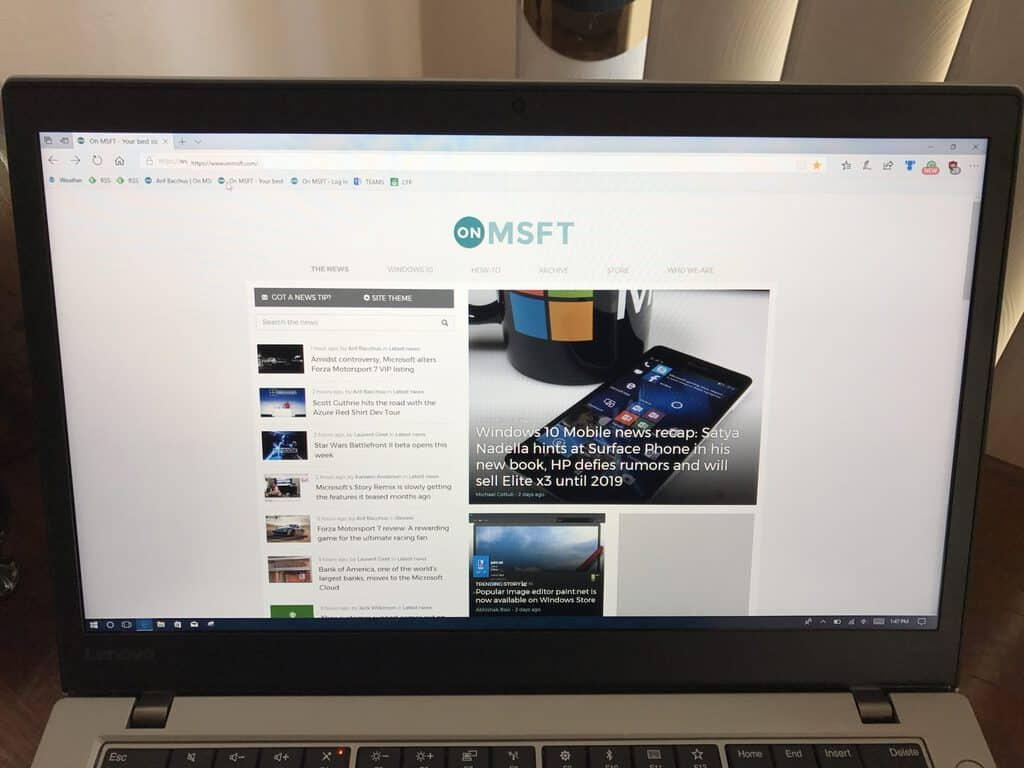 Lenovo t470s review: the right laptop for windows insiders - onmsft. Com - october 3, 2017