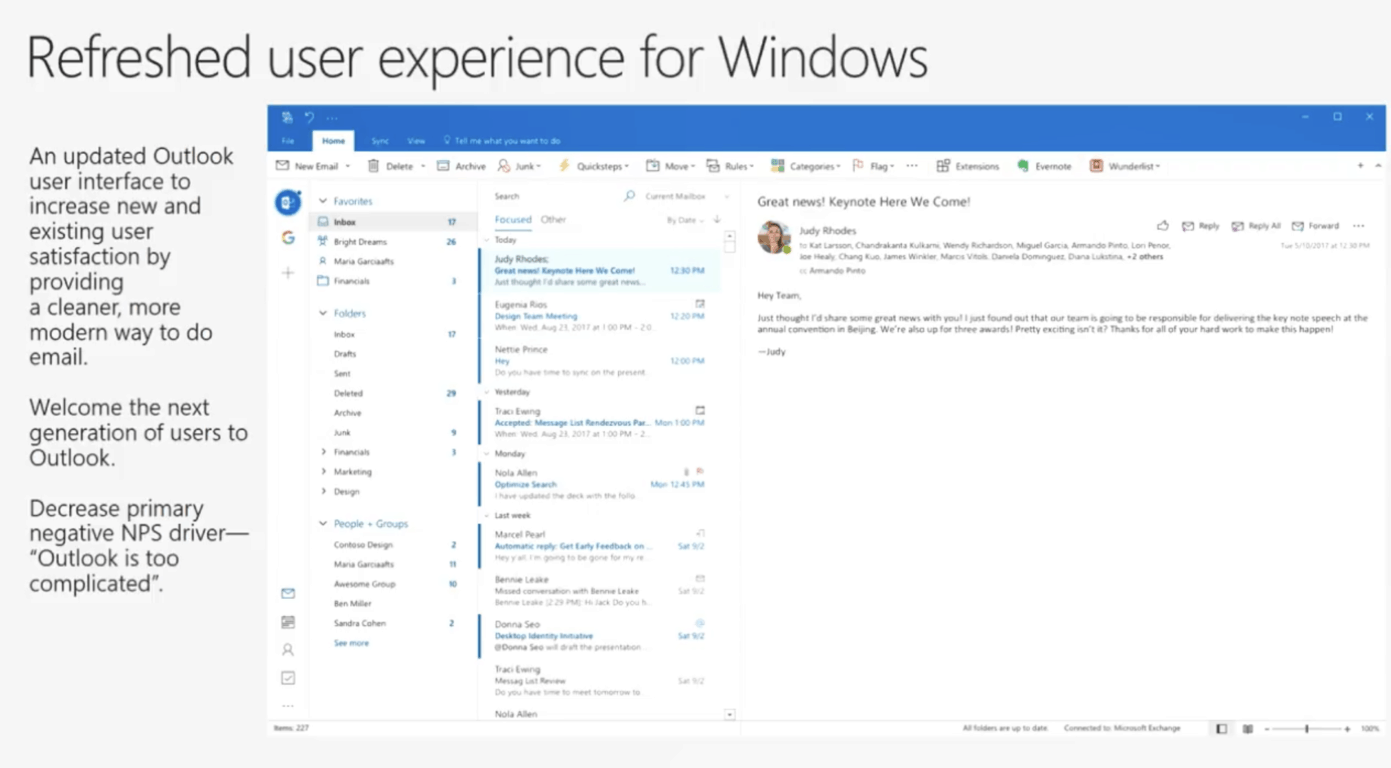 Outlook for windows and mac to be redesigned with simpler ui and customizable ribbon - onmsft. Com - october 16, 2017