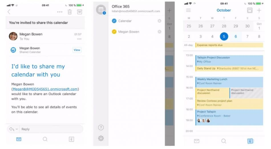view shared outlook calendar on iphone outlook for ios and android add shared and delegated 19525