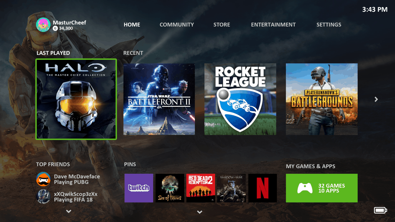 Xbox One mock-up