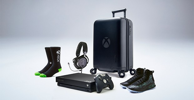 """Microsoft partners with Under Armor to create the Xbox One X and Curry 4 """"More Power"""" VIP Kit OnMSFT.com November 8, 2017"""