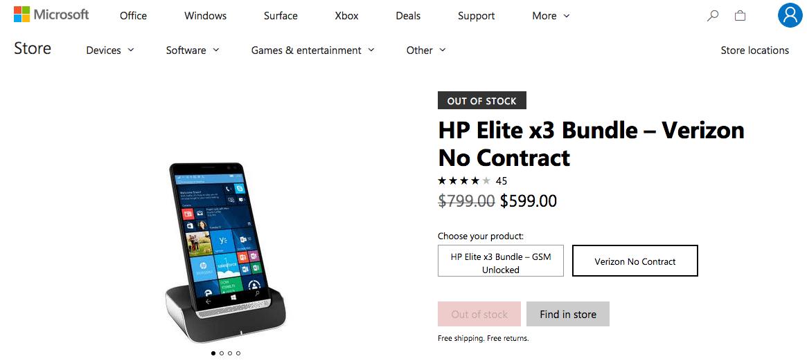 Hp elite x3 windows phone comes to verizon - onmsft. Com - november 2, 2017