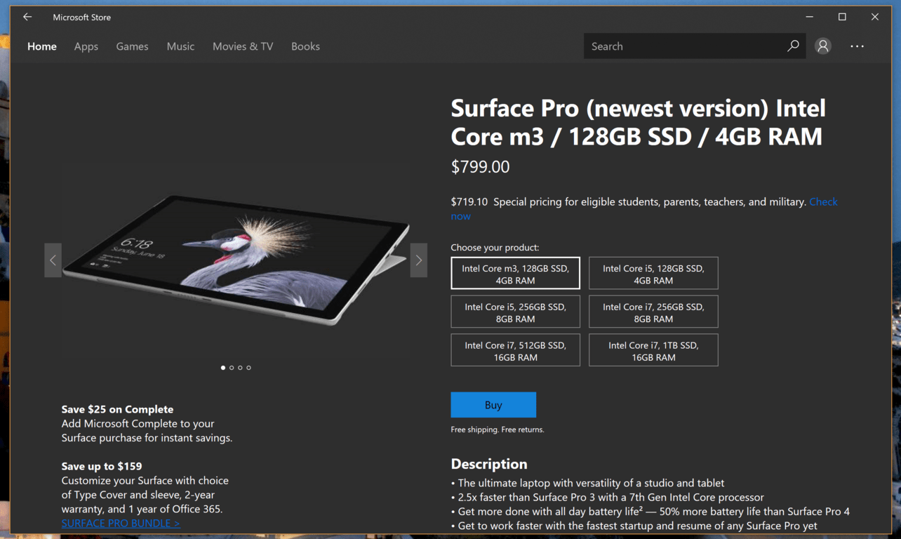 Microsoft surface devices come to the microsoft store app - onmsft. Com - november 8, 2017
