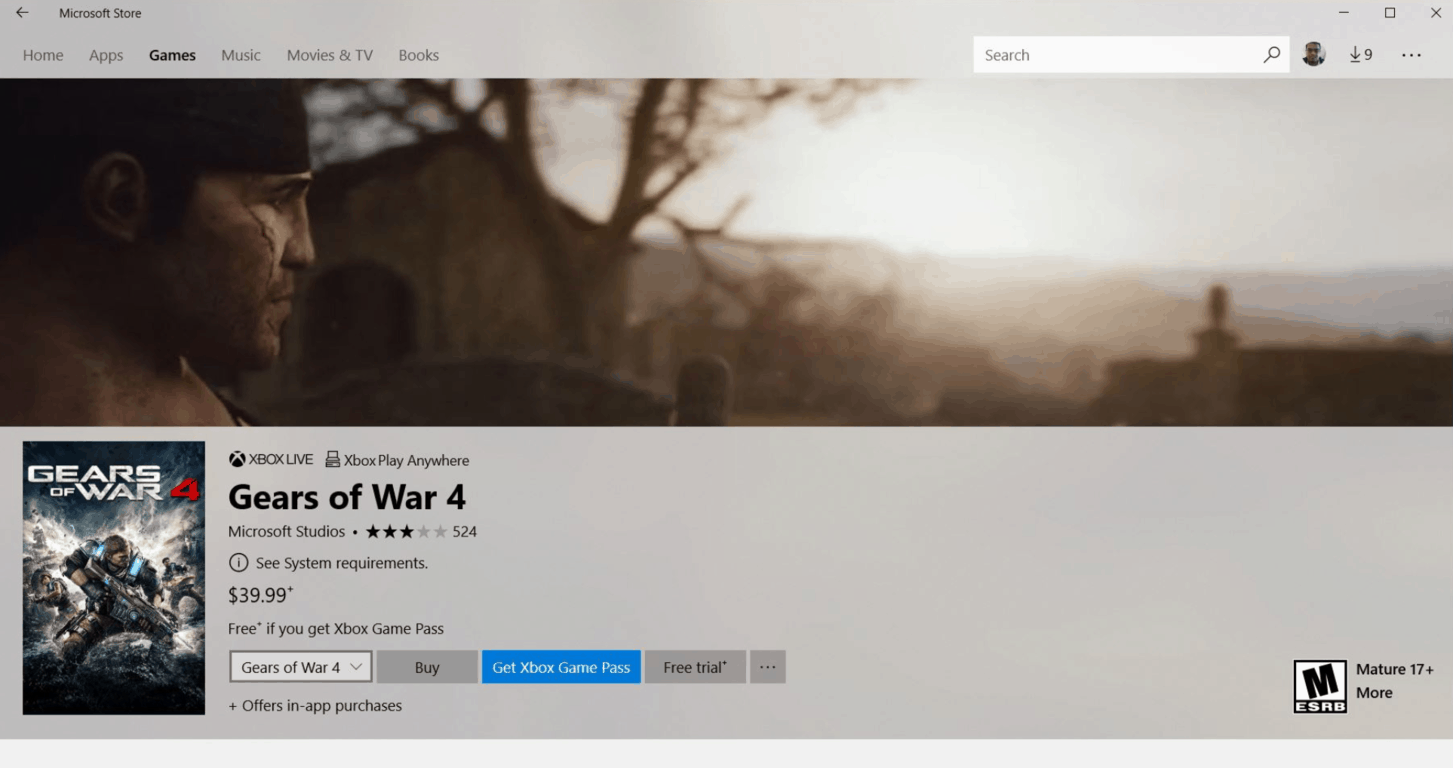 Gears of war 4 was just added to xbox game pass - onmsft. Com - november 30, 2017