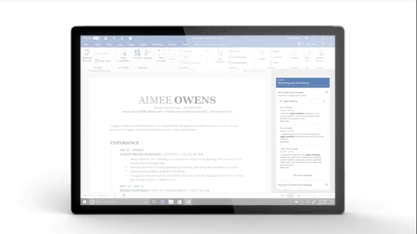 Microsoft launches LinkedIn powered Resume Assistant for Office ...