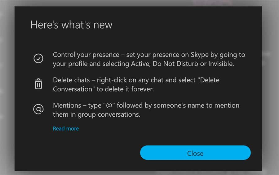 Skype Update