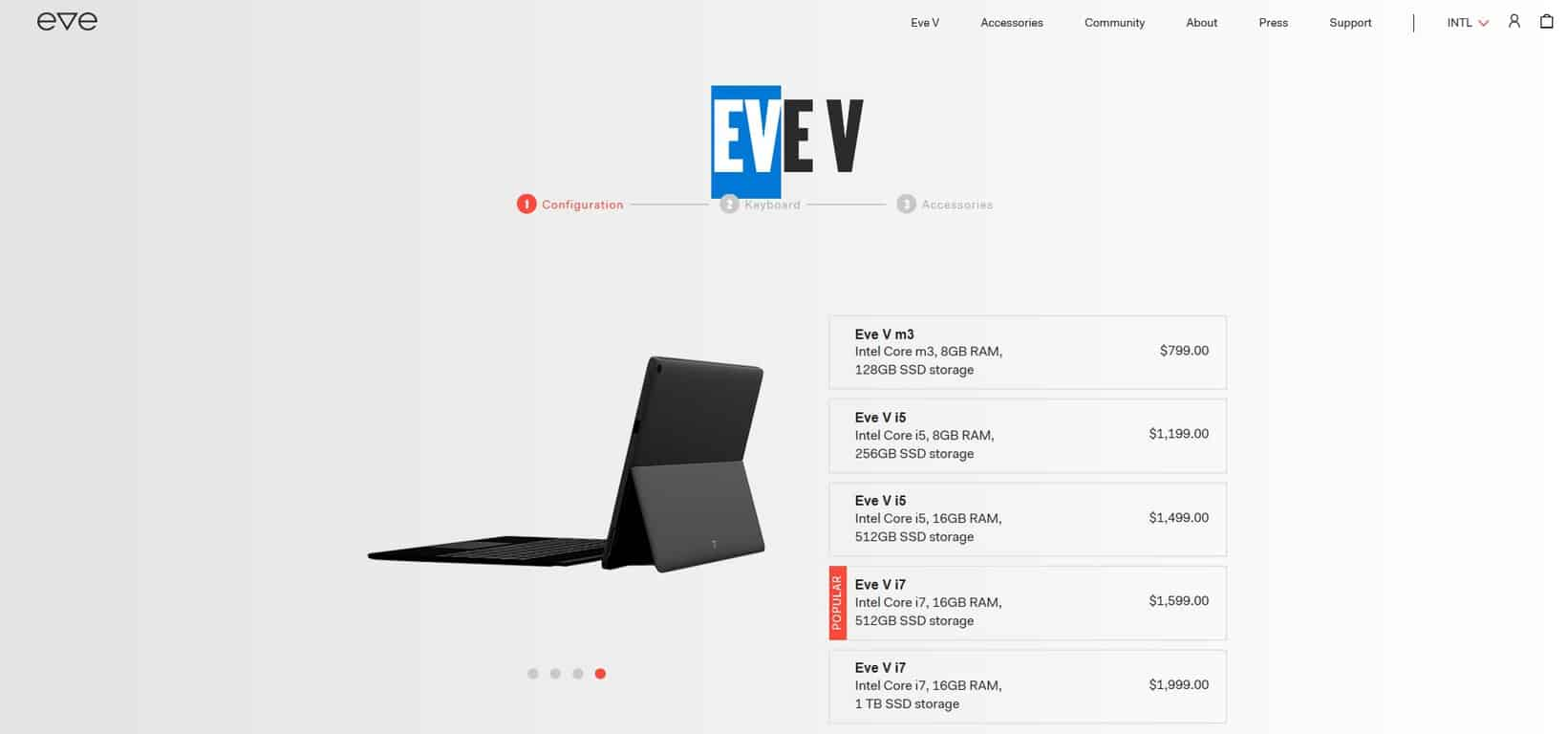 Eve v 2-in-1 tablet goes up for sale in limited quantities - onmsft. Com - december 4, 2017