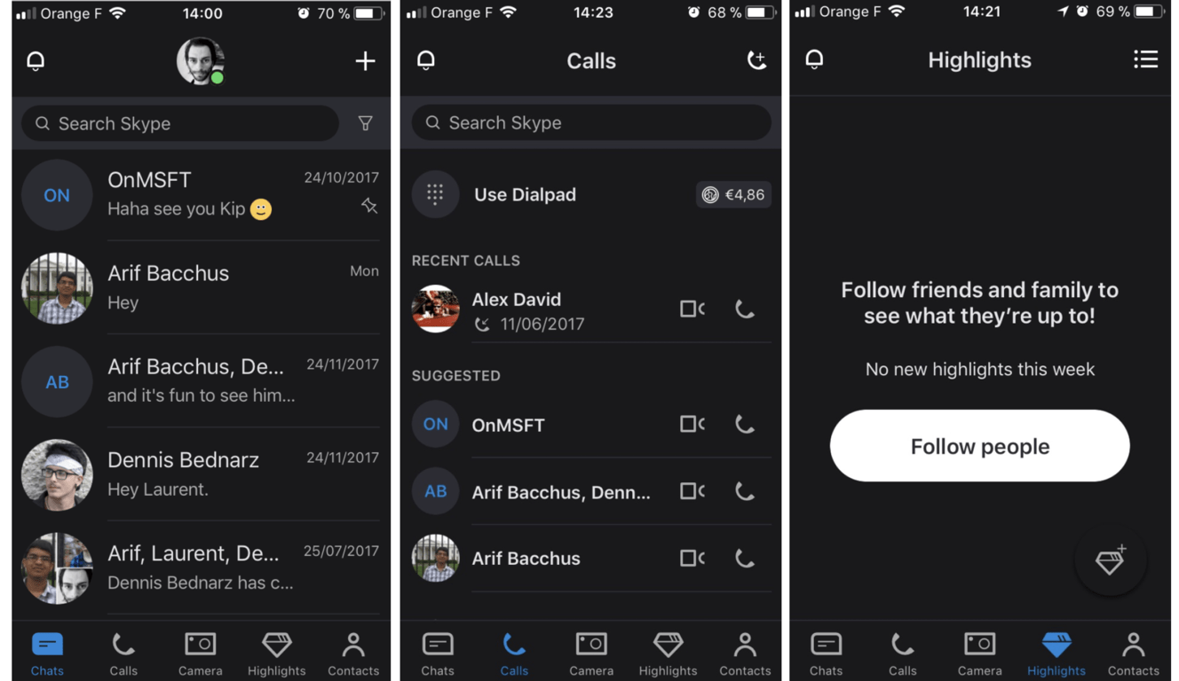 Skype for iPhone picks up redesigned UI, iPhone X support with latest update OnMSFT.com December 7, 2017