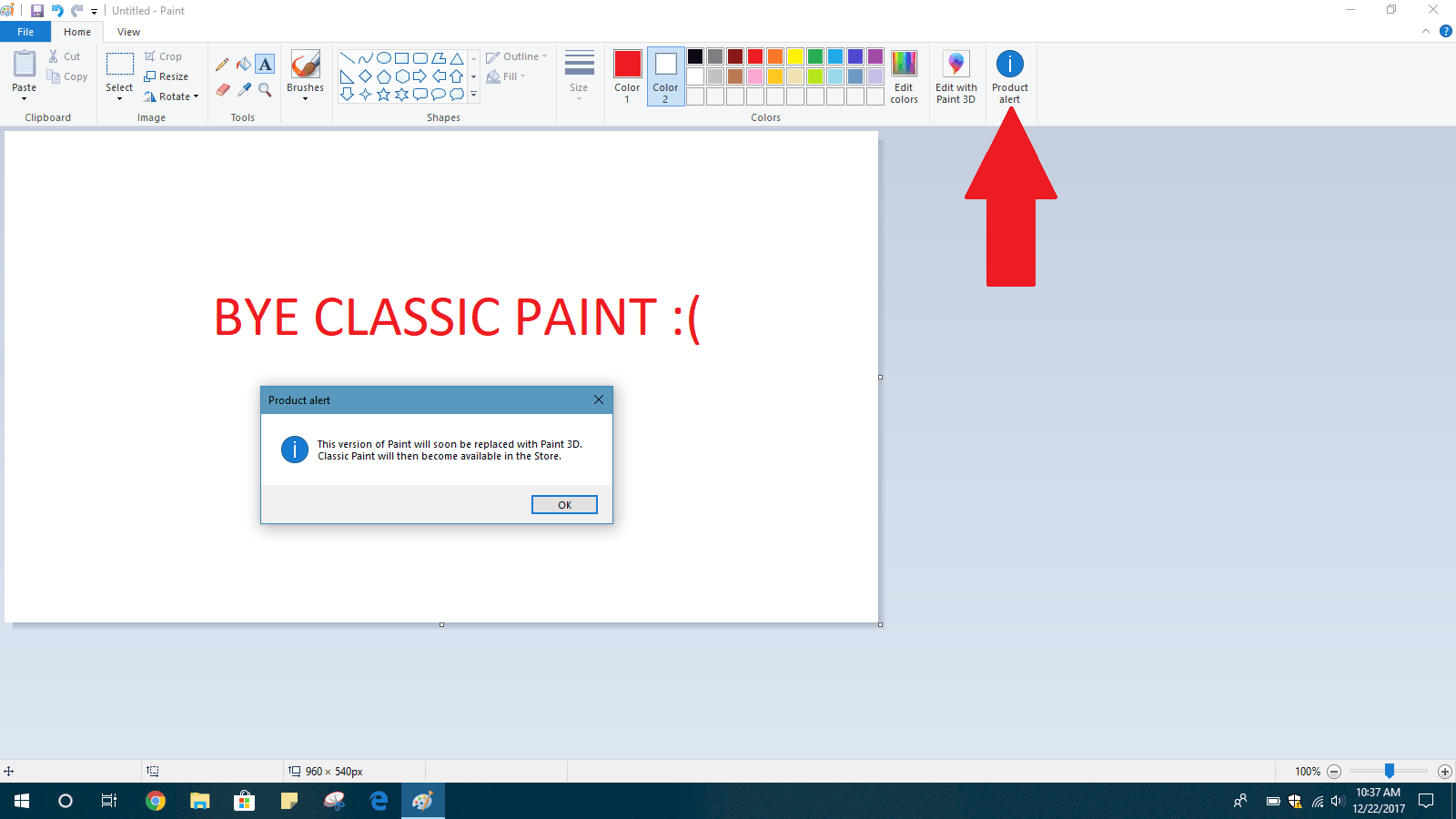 Microsoft confirms it won't remove ms paint from windows 10 for now - onmsft. Com - april 23, 2019