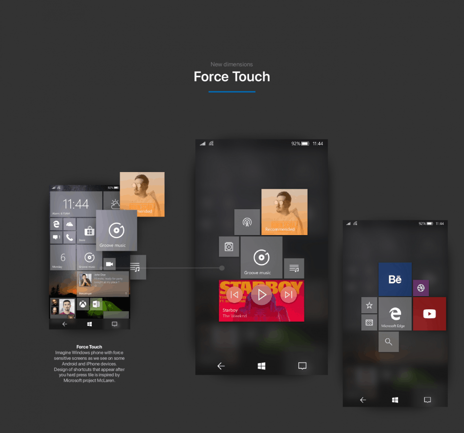 What might have been: Concept shows Fluent Design on Windows 10 Mobile OnMSFT.com January 25, 2018
