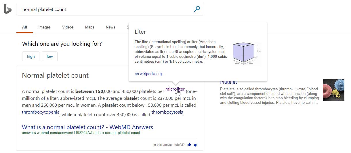 Bing updates intelligent answers, more - onmsft. Com - march 26, 2018