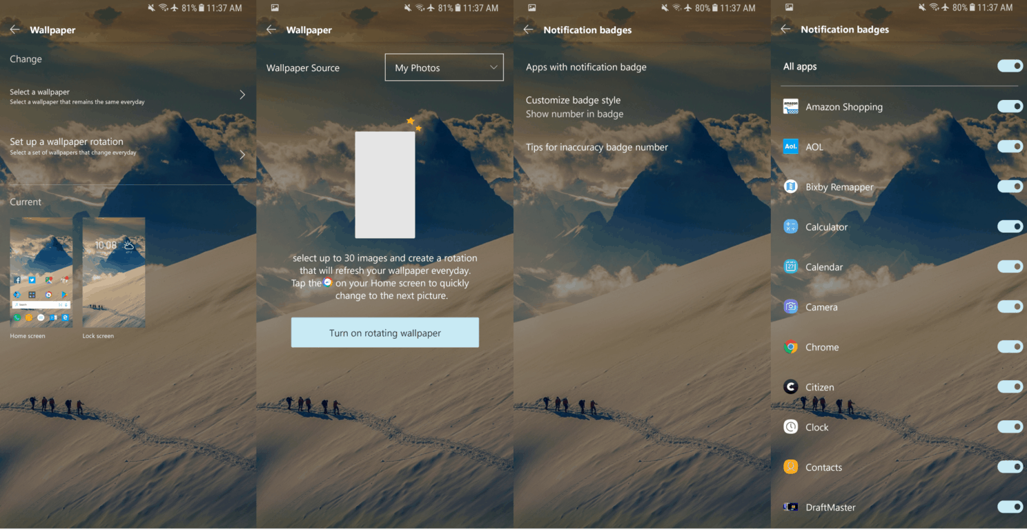 Microsoft launcher for android beta adds custom daily backgrounds - onmsft. Com - march 8, 2018