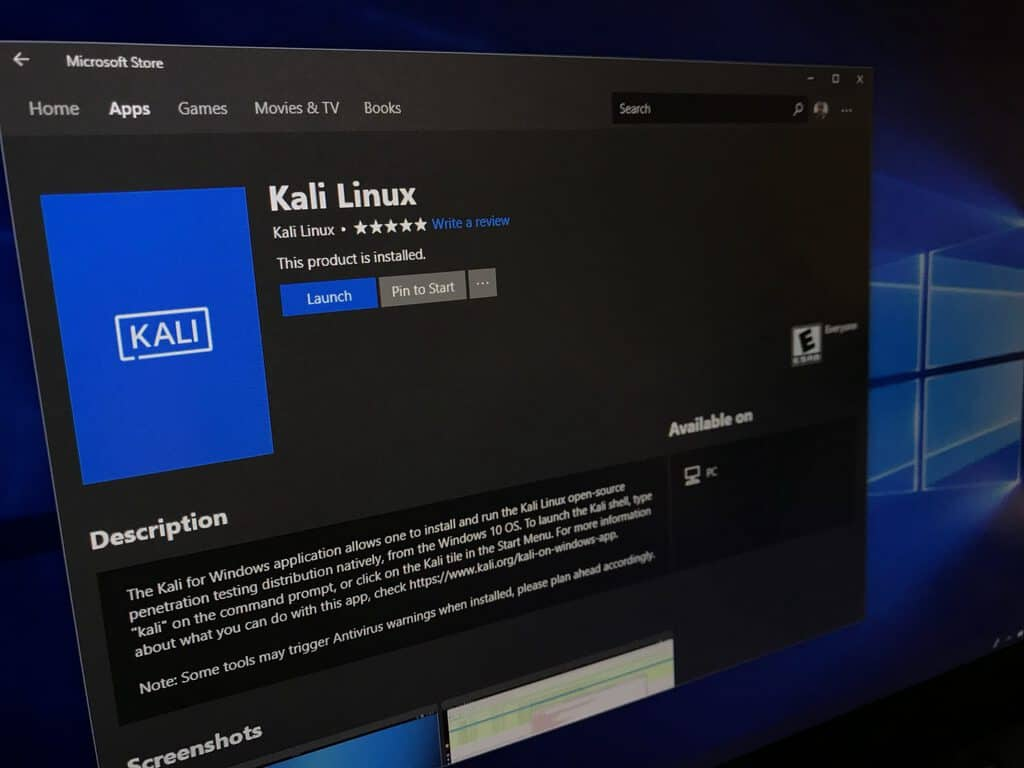 Kali Linux For Windows 10 Now Available From The Microsoft Store Onmsft Com