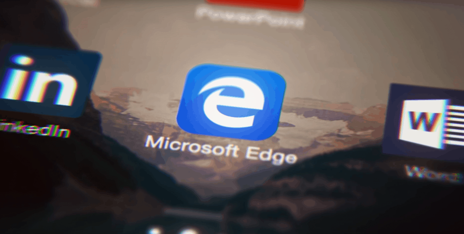 Microsoft Edge app on ios