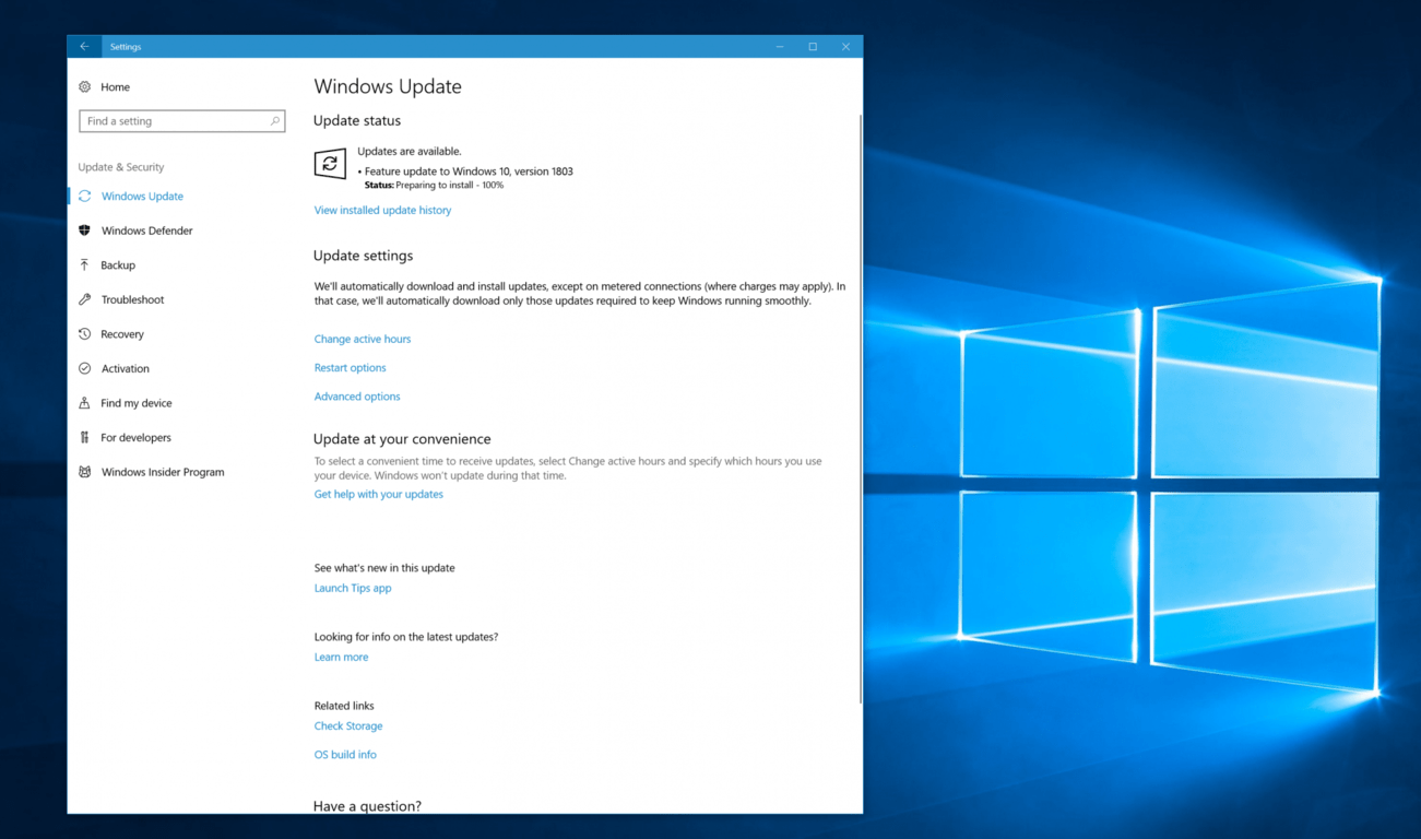 Here's how to download the windows 10 april 2018 update right now - onmsft. Com - april 30, 2018