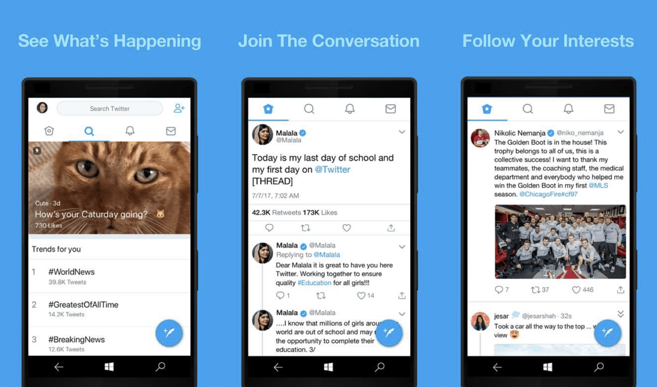 Twitter PWA app comes to Windows 10 Mobile, a platform that doesn't fully support PWAs OnMSFT.com April 30, 2018