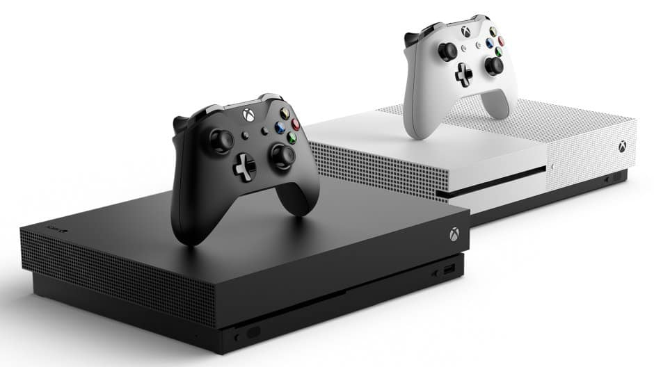 Xbox One X and S consoles