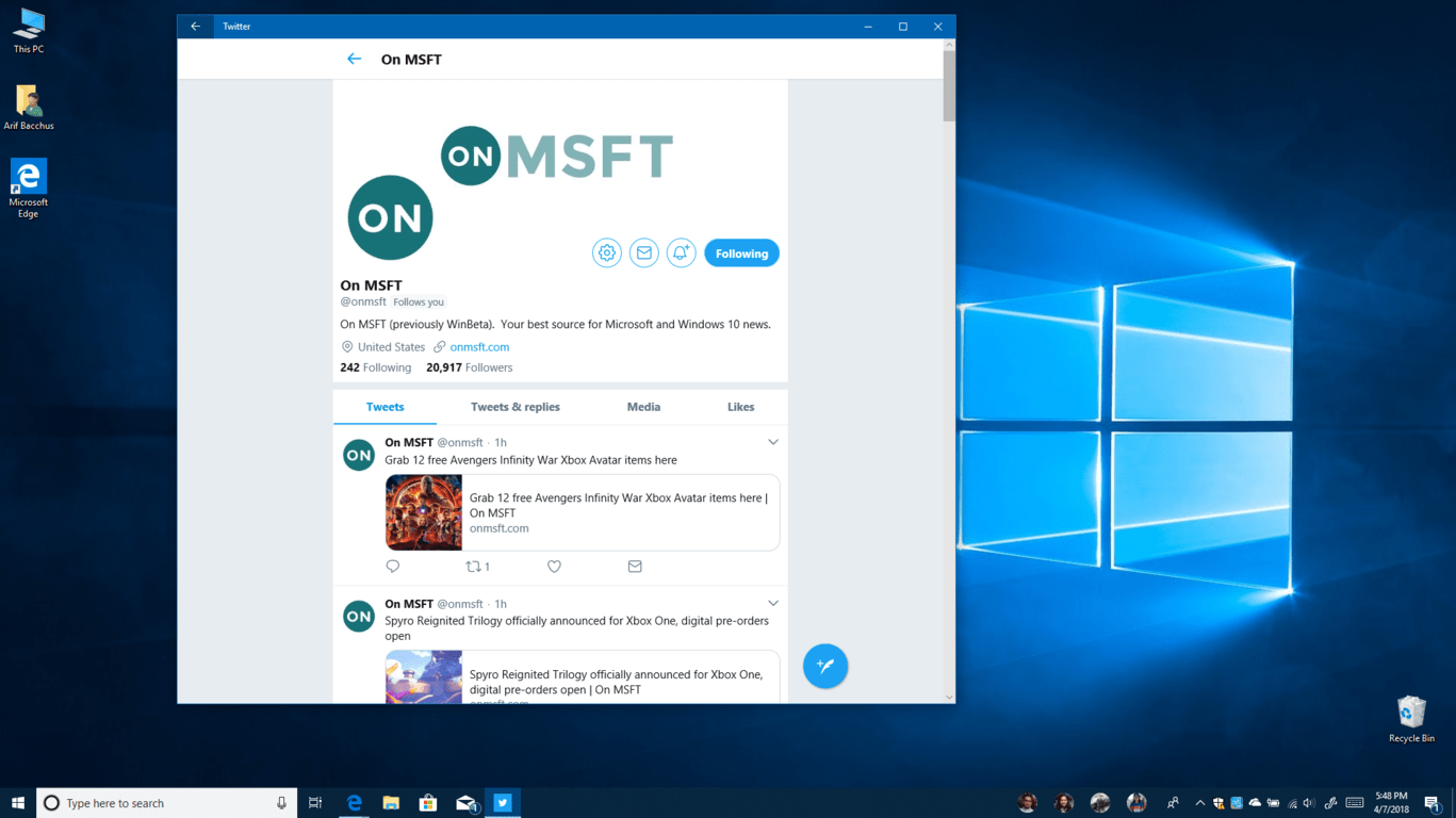 Here's what's new in windows 10 april 2018 update, a look at some of the big changes - onmsft. Com - april 27, 2018