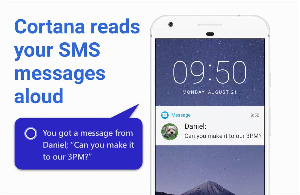 Cortana beta on android can now read your incoming text messages aloud - onmsft. Com - april 12, 2018