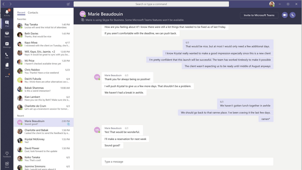 Microsoft Teams is getting Skype for Business interop with persistent chat and unified presence OnMSFT.com April 5, 2018