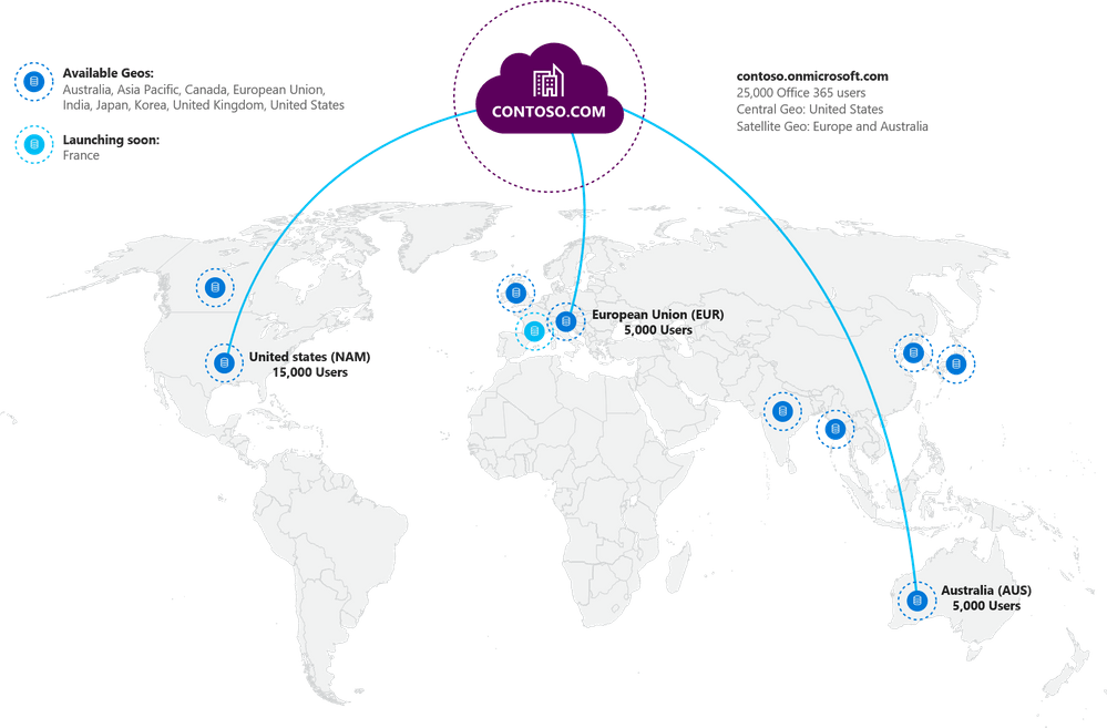 Office 365 introduces Multi-Geo to control where your data is stored OnMSFT.com April 17, 2018