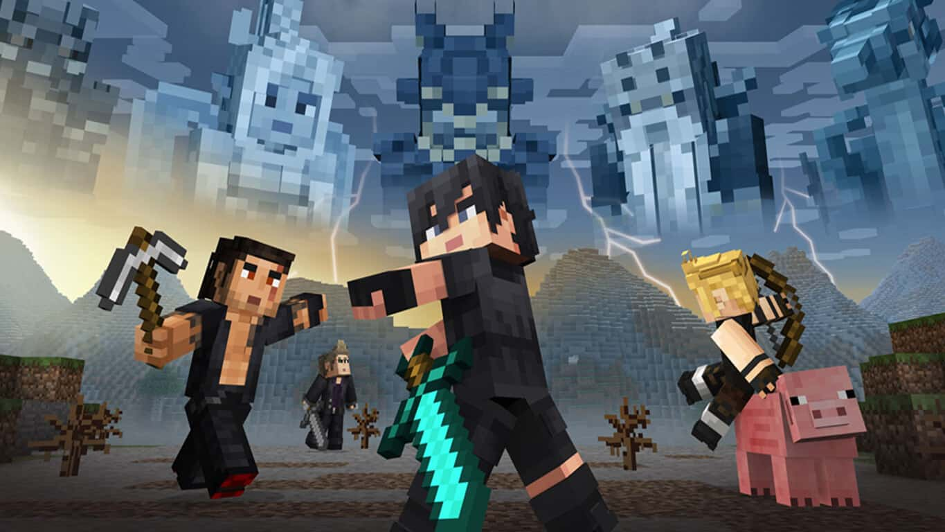 Final Fantasy XV skins in Minecraft on Xbox One and Windows 10