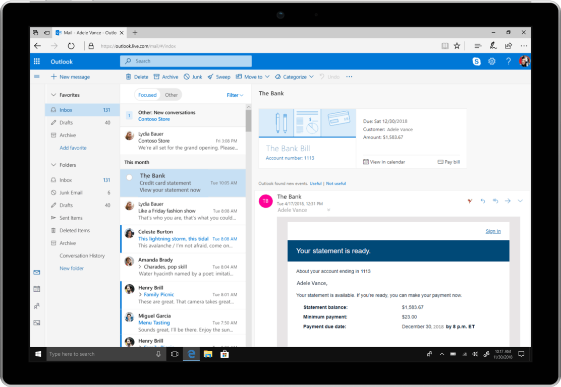Microsoft unveils new outlook features coming to all platforms - onmsft. Com - may 1, 2018