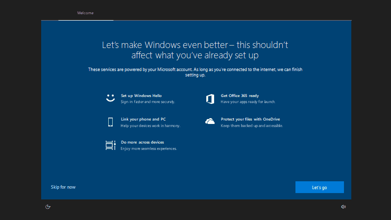 Windows 10 insider build 17682 brings more sets improvements, new post-upgrade setup experience - onmsft. Com - may 31, 2018