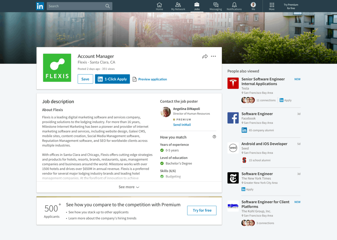 Linkedin will now tell you if you're a match before applying to a job - onmsft. Com - may 14, 2018