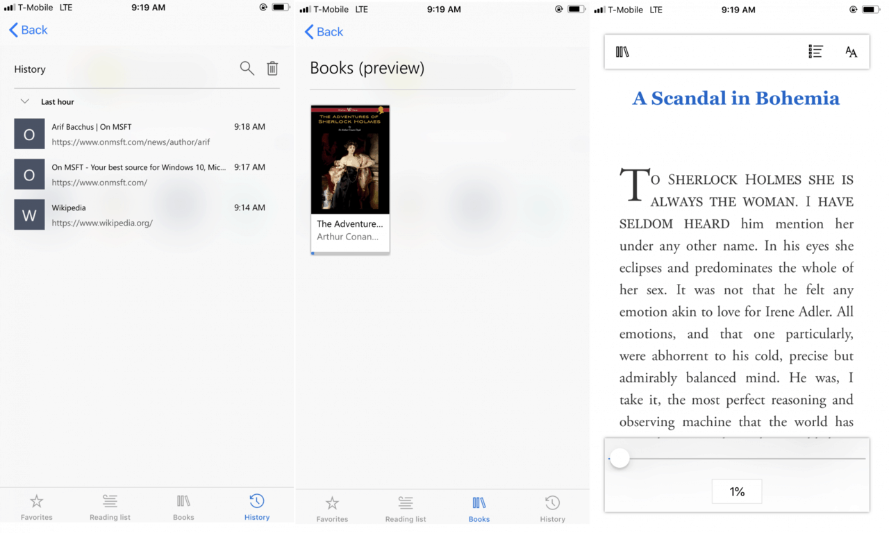 You can now use microsoft edge to read ebooks on ios - onmsft. Com - may 30, 2018