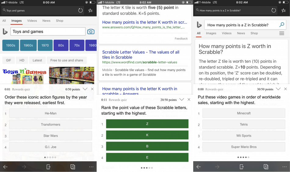 Microsoft rewards quizzes now feature touches of fluent design - onmsft. Com - may 3, 2018