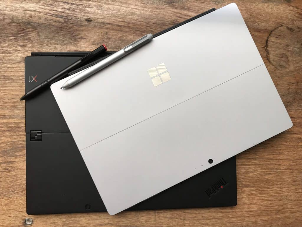 ThinkPad X1 Tablet 3rd Gen and Surface